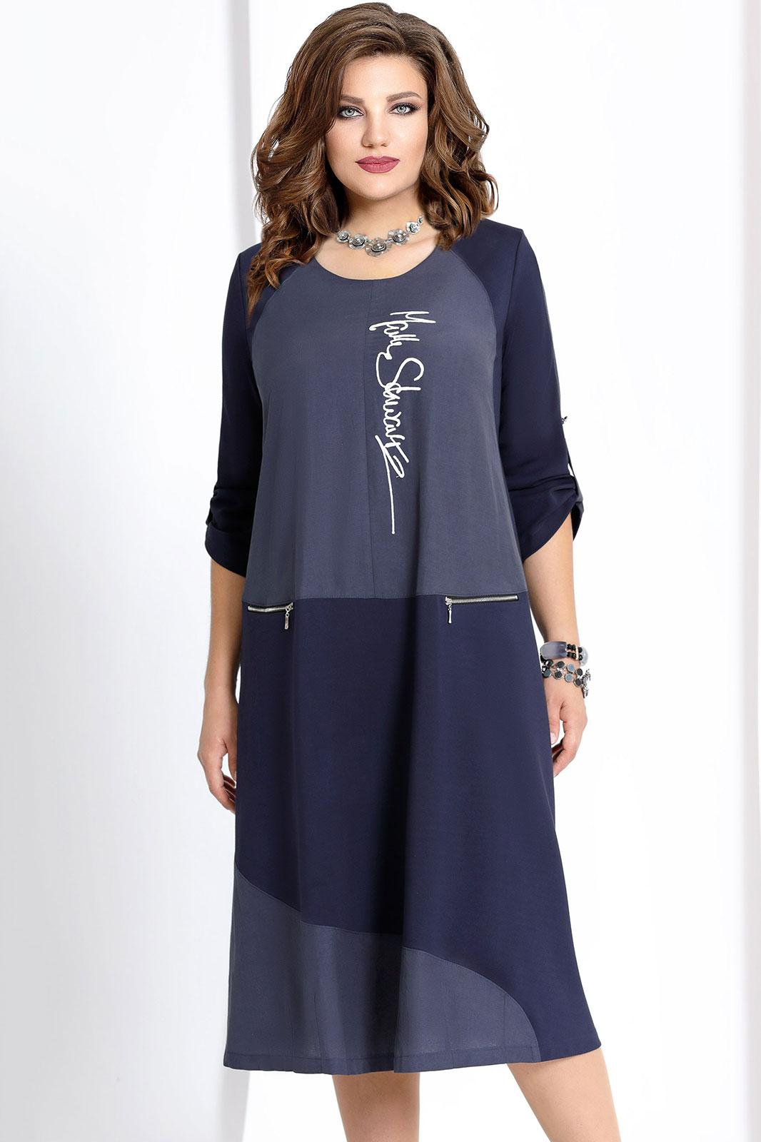 Купить Платье Vittoria Queen, 6593 тёмно-синий, Беларусь