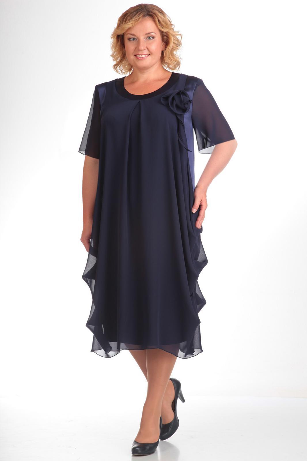 Купить Платье Pretty, 334 темно-синий, Беларусь