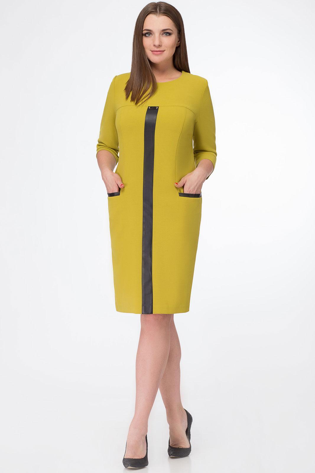 Купить Платье Белэкспози, 913 горчичный, Беларусь