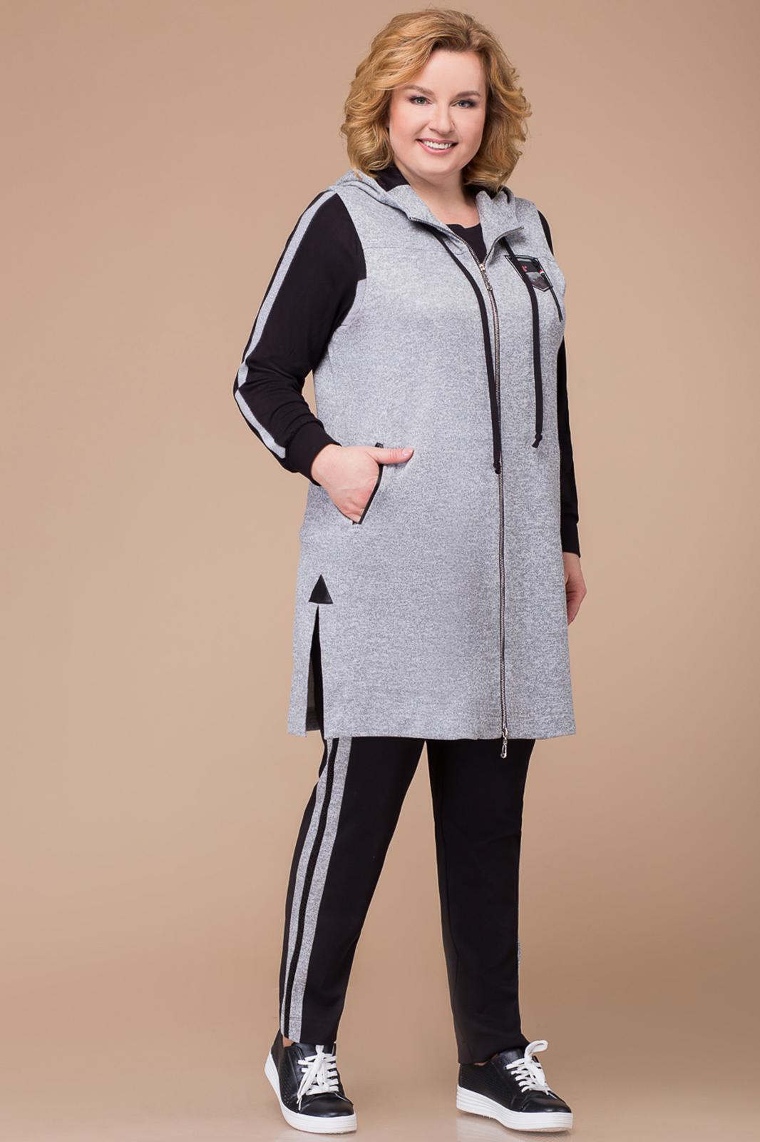 c7d5c680b934 Костюм Svetlana Style, серый+черный (модель 1208) — Белорусский ...