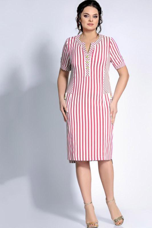 Купить Платье Джерси, 1670 белый с красным, Беларусь