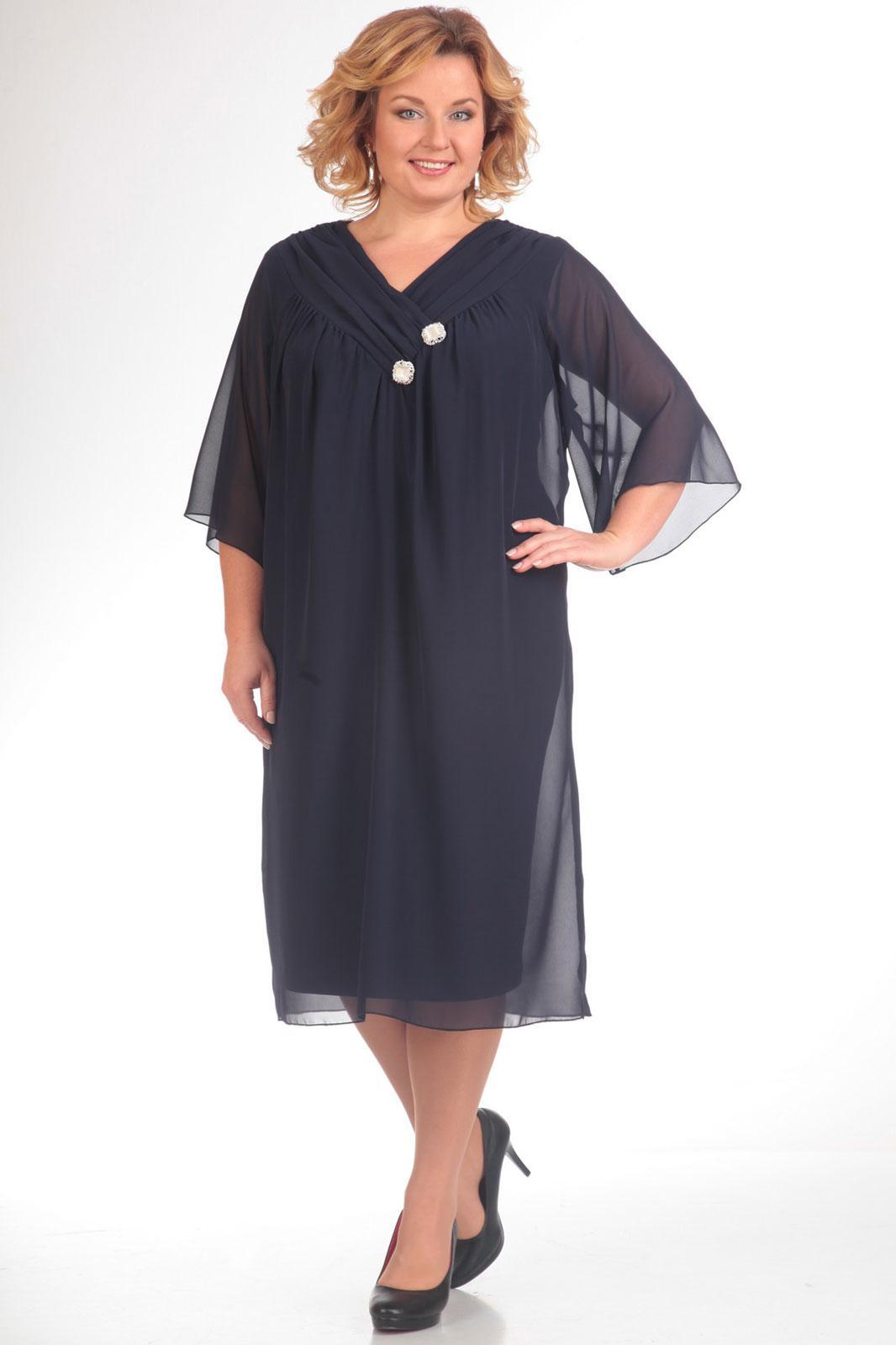 Купить Платье Pretty, 377 темно-синий, Беларусь