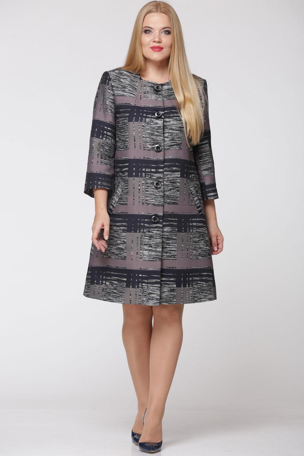 Купить Пальто Надин-Н, 1335 серо-сиреневый, Беларусь
