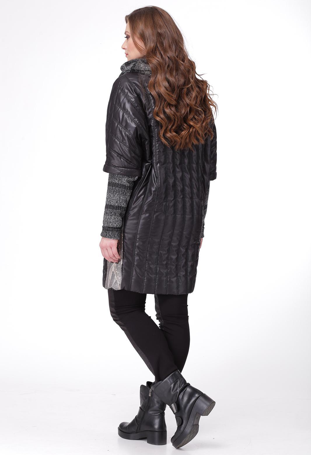 Серый Костюм Черным Пальто
