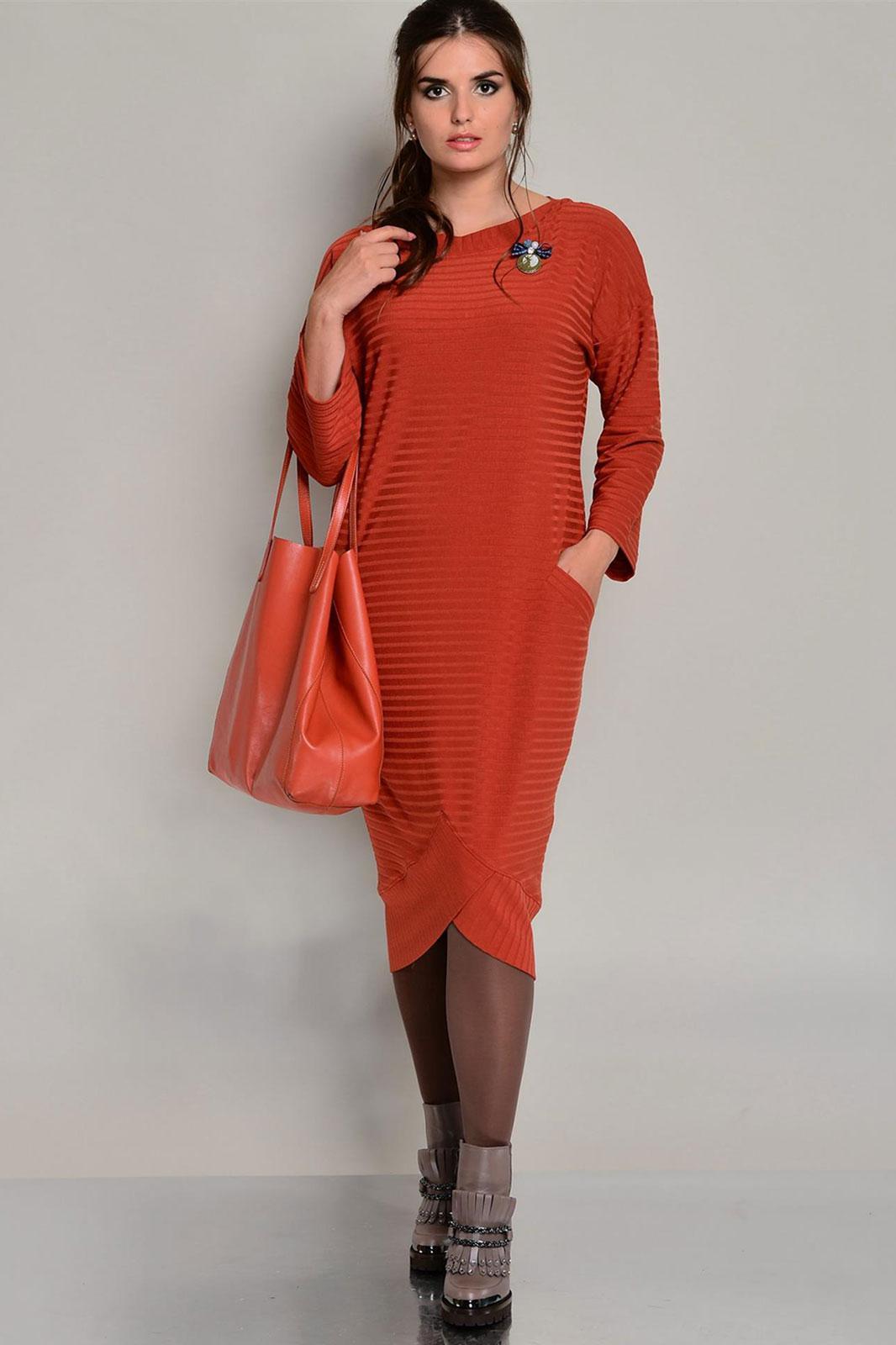 Купить Платье Faufilure, 442С терракотовый, Беларусь