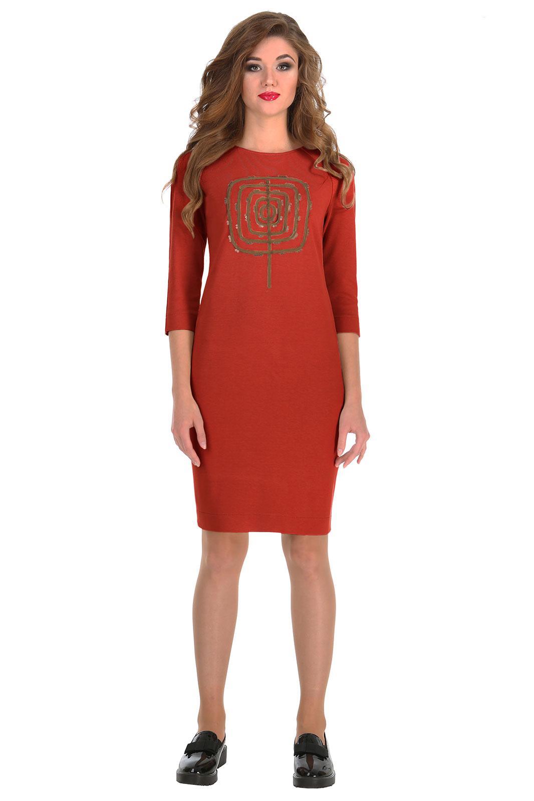 Купить Платье Линия-Л, 1542Б терракотовый, Беларусь