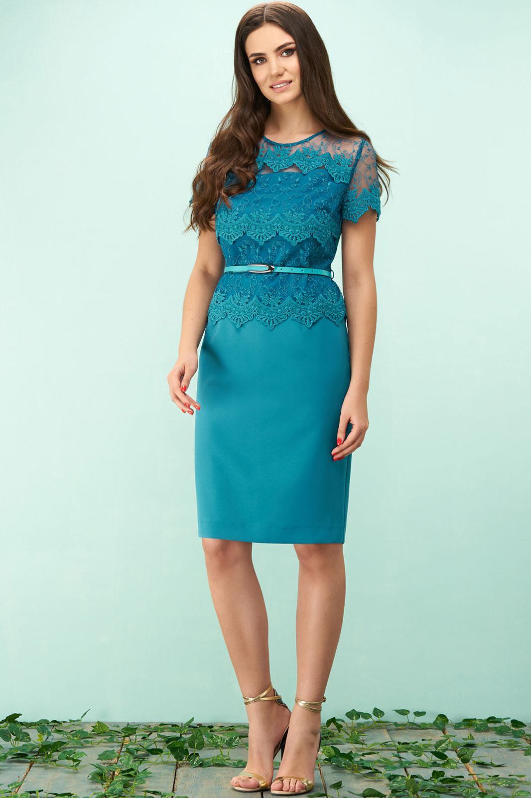 Купить Платье Bazalini, 3142 бирюзовый, Беларусь