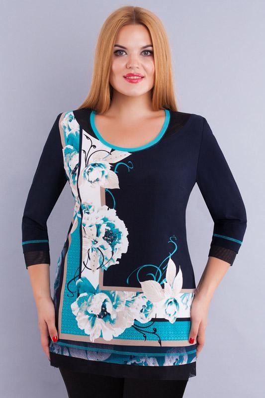 Купить Блузка Дали, 233 синий, Беларусь