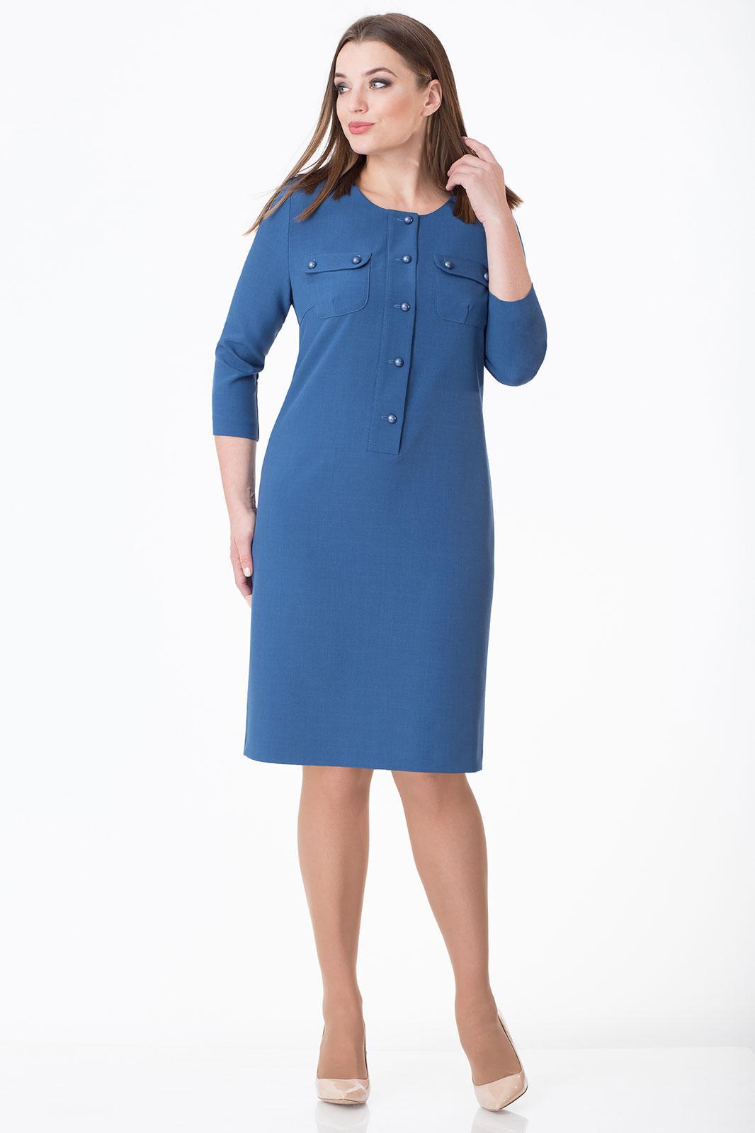 Купить Платье Линия-Л, 1678 оттенки синего, Беларусь