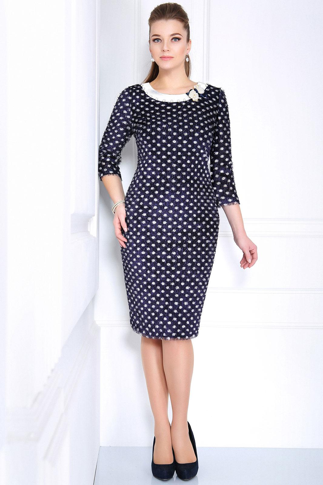 Купить Платье Matini, 31039 с белой отделкой, Беларусь
