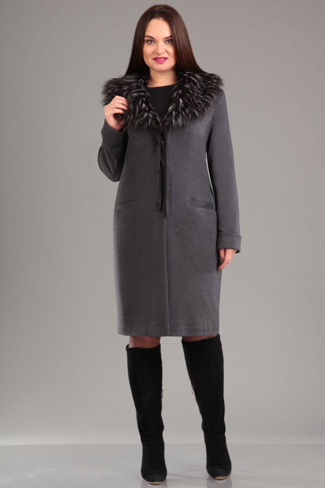 Купить Пальто Ива, 850 темно-серый, Беларусь