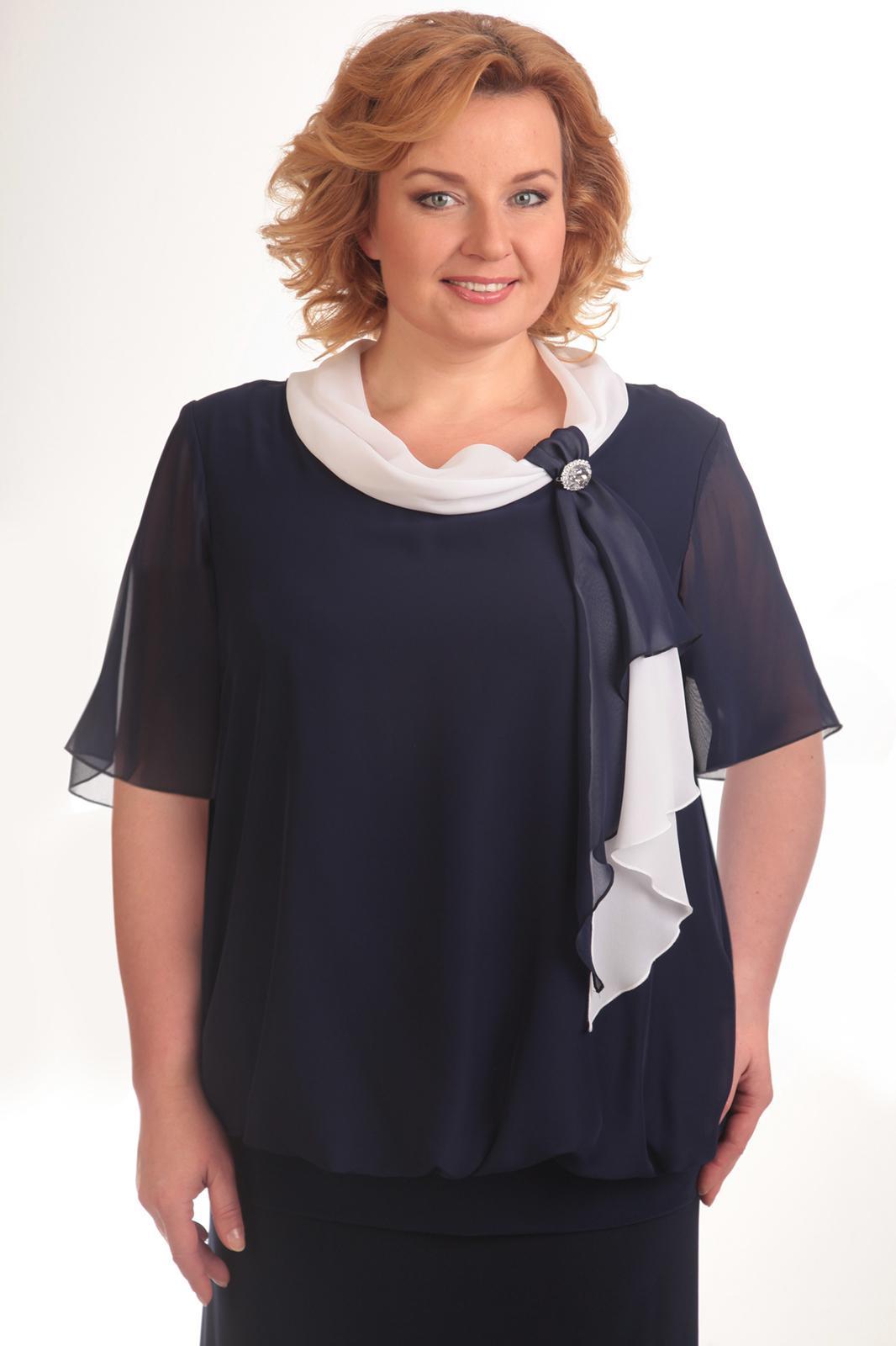 Купить Блузка Pretty, 380 темно-синий, Беларусь