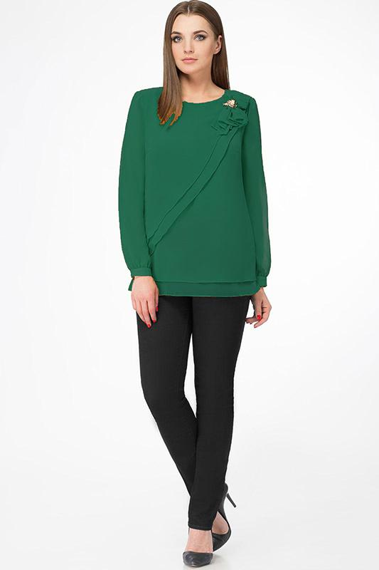 Блузка Дали, 3295 зелень, Беларусь  - купить со скидкой
