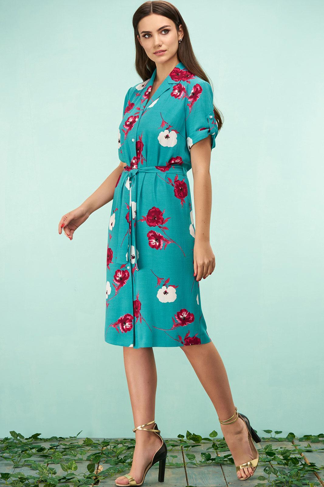 Купить Платье Bazalini, 3162 бирюзовый, Беларусь