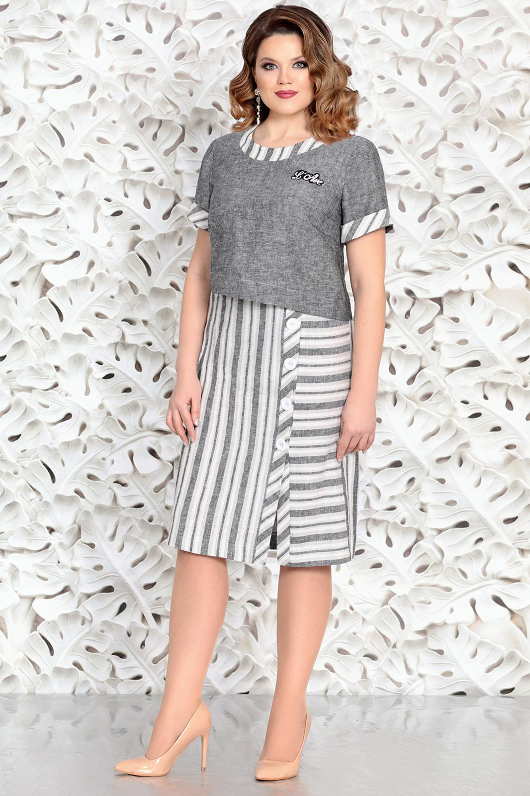 ffed604c1 Платье Mira Fashion, серый (модель 4602) — Белорусский трикотаж в ...
