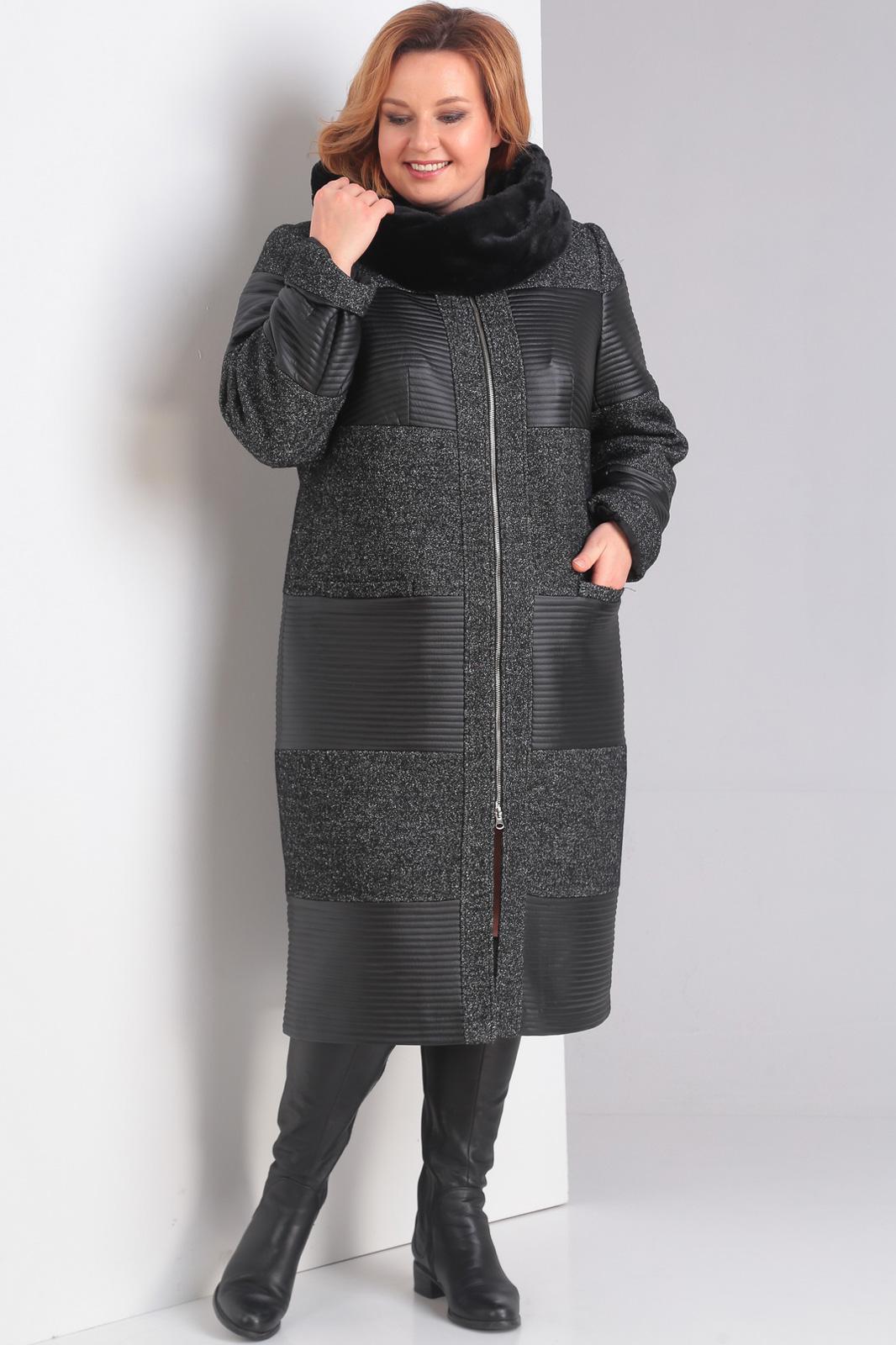Купить Пальто Диамант, 1032 тёмно-серый, Беларусь