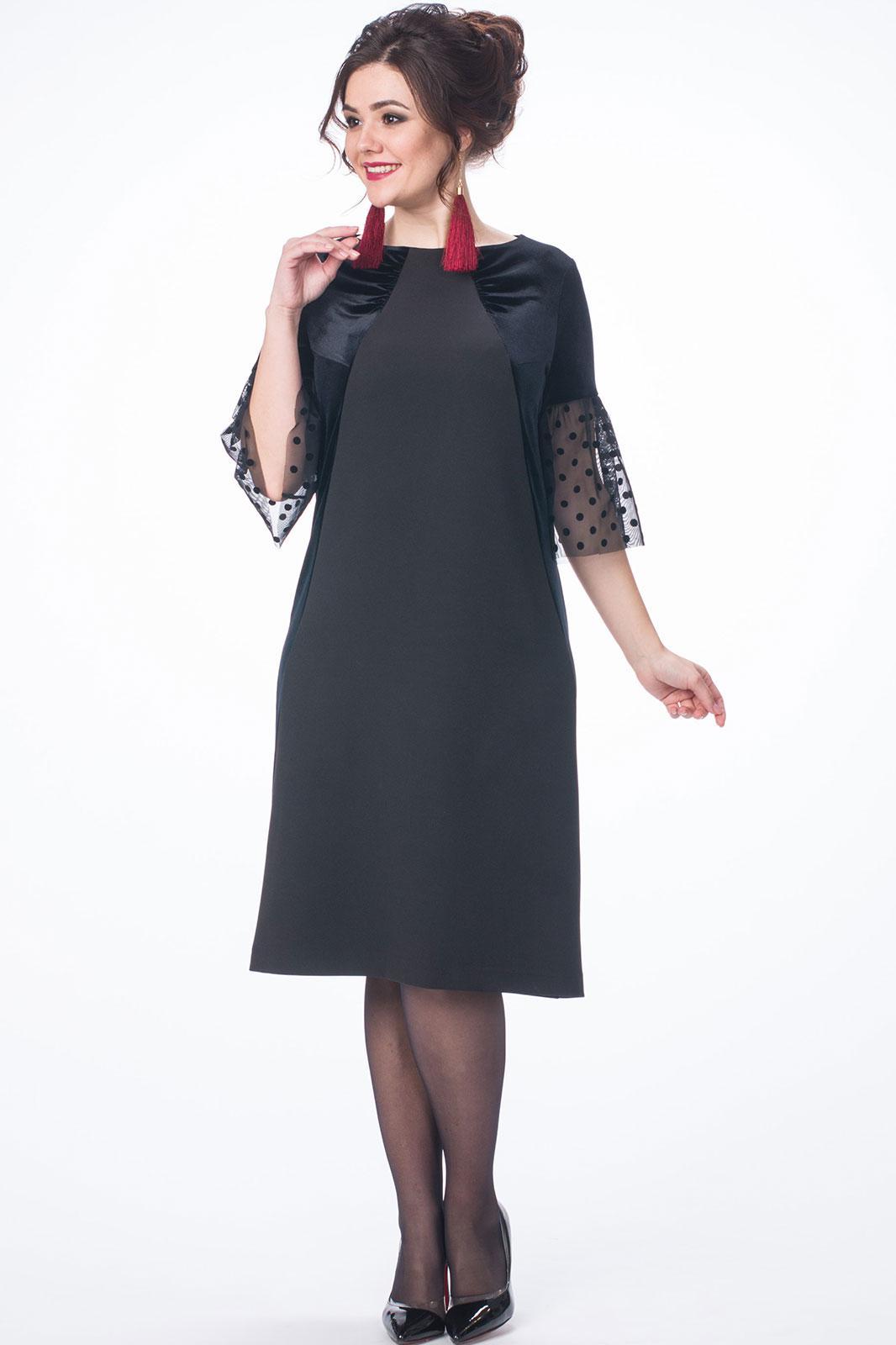 ba540a606da9 Платье Melissena, чёрный (модель 845) — Белорусский трикотаж в ...