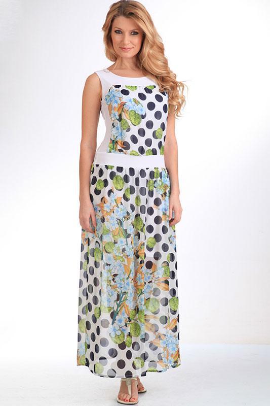 Купить Платье Лиона-Стиль, 402 горохи с салатовым, Беларусь