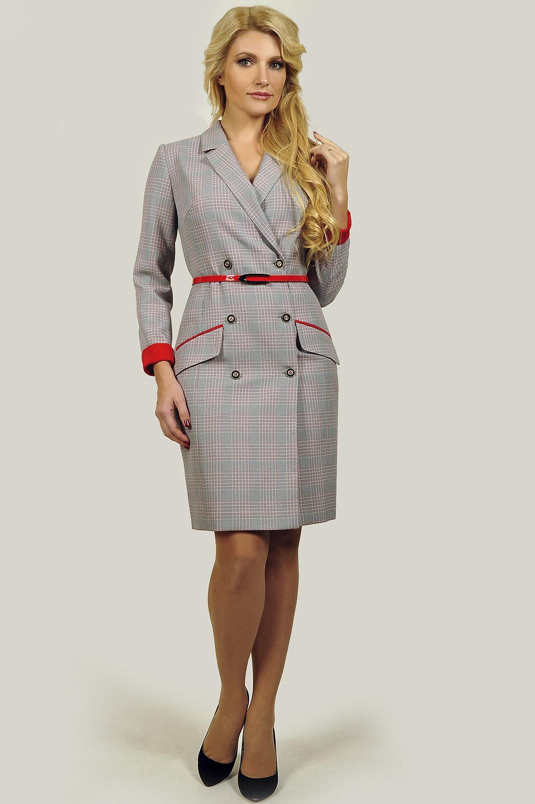 Купить Платье Sandyna, 13537-3 красно-белая клетка, Беларусь