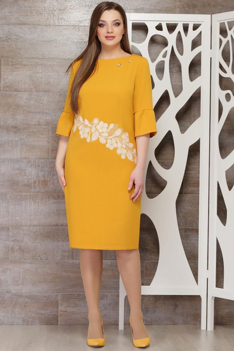 Купить Платье Таиер, 597 горчичный, Беларусь