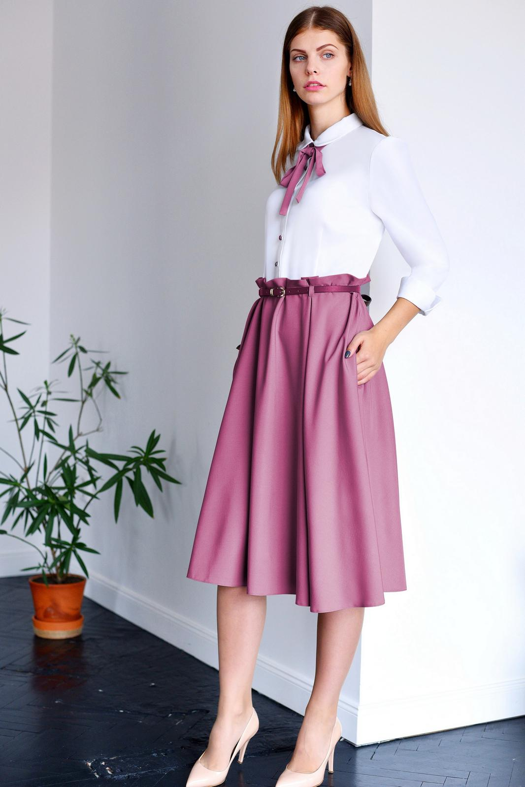 Купить Платье Юрс, 17-751 белый с ягодным, Беларусь