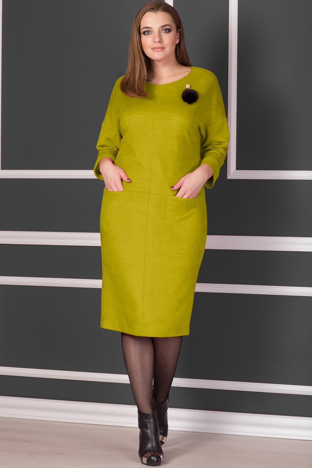 f40aa01c692762e Платье Michel Chic, горчица (модель 916) — Белорусский трикотаж в ...