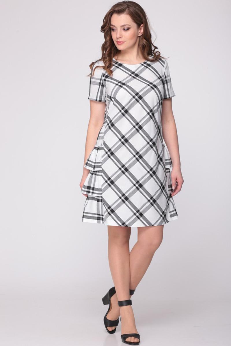 Купить Платье Ladis Line, 807 белый+чёрный, Беларусь