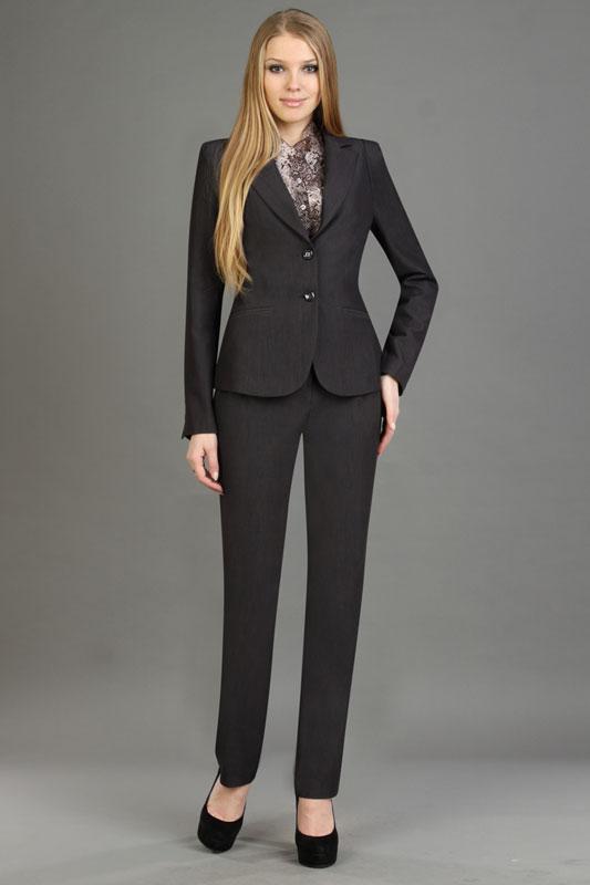 Брючный костюм женский с галстуком фото
