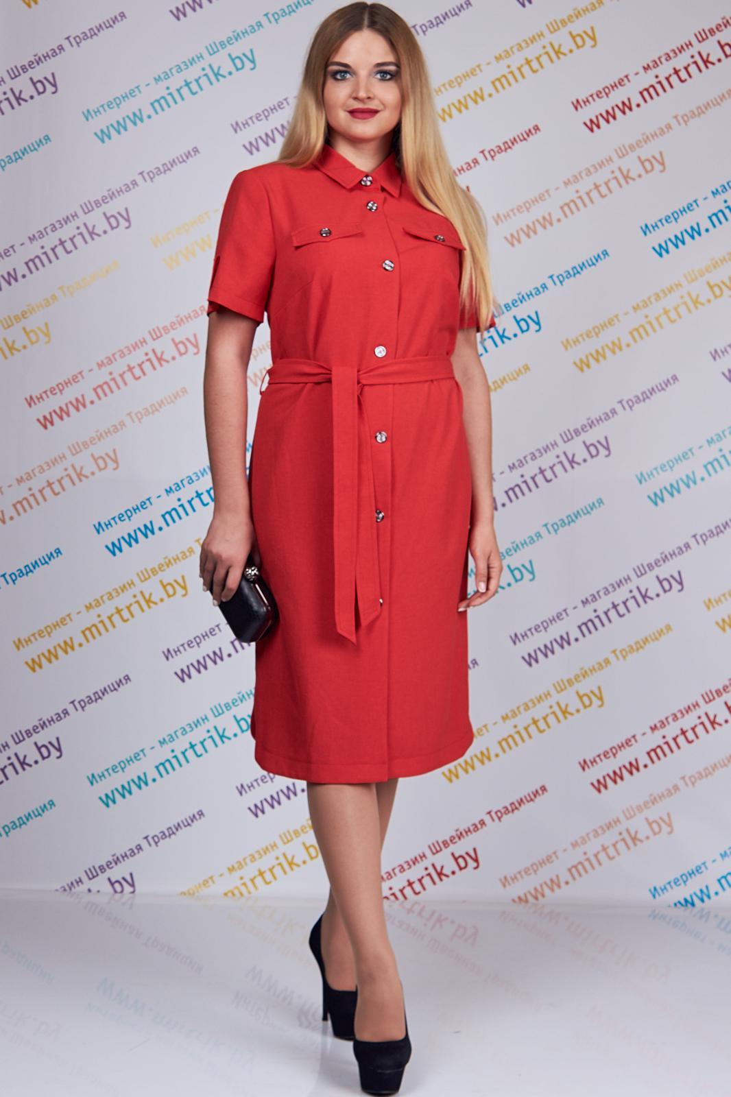 Купить Платье Дали, 5235 красный, Беларусь