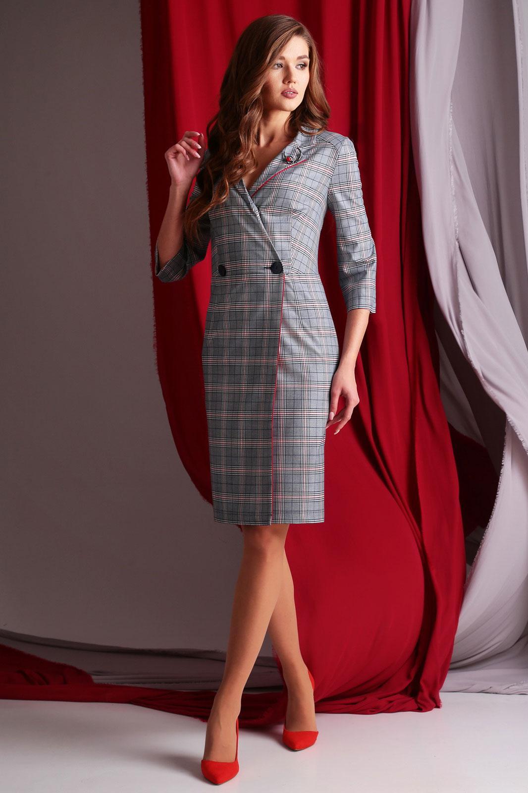 Купить Платье Axxa, 55006 А серая клетка, Беларусь