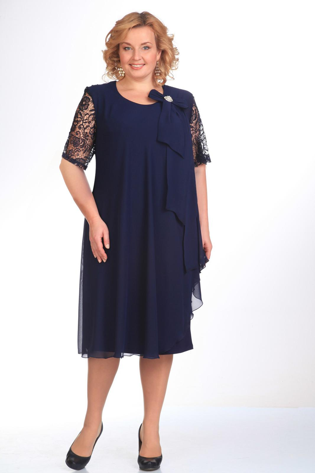 Купить Платье Pretty, 254 темно-синий, Беларусь