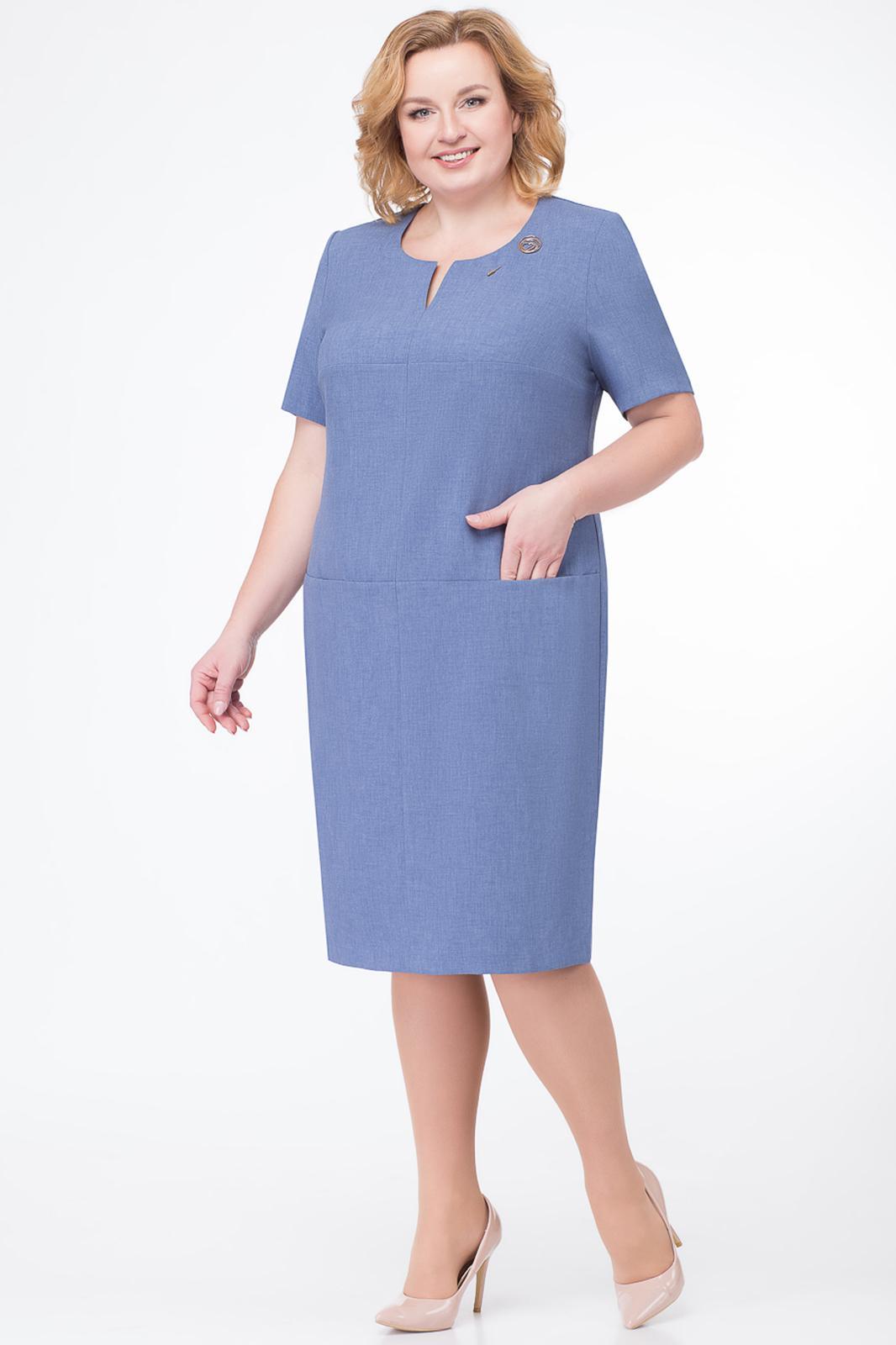 8b08ad9c34b352f Платье БелЭкспози, джинсовый (модель 916-1) — Белорусский трикотаж в ...