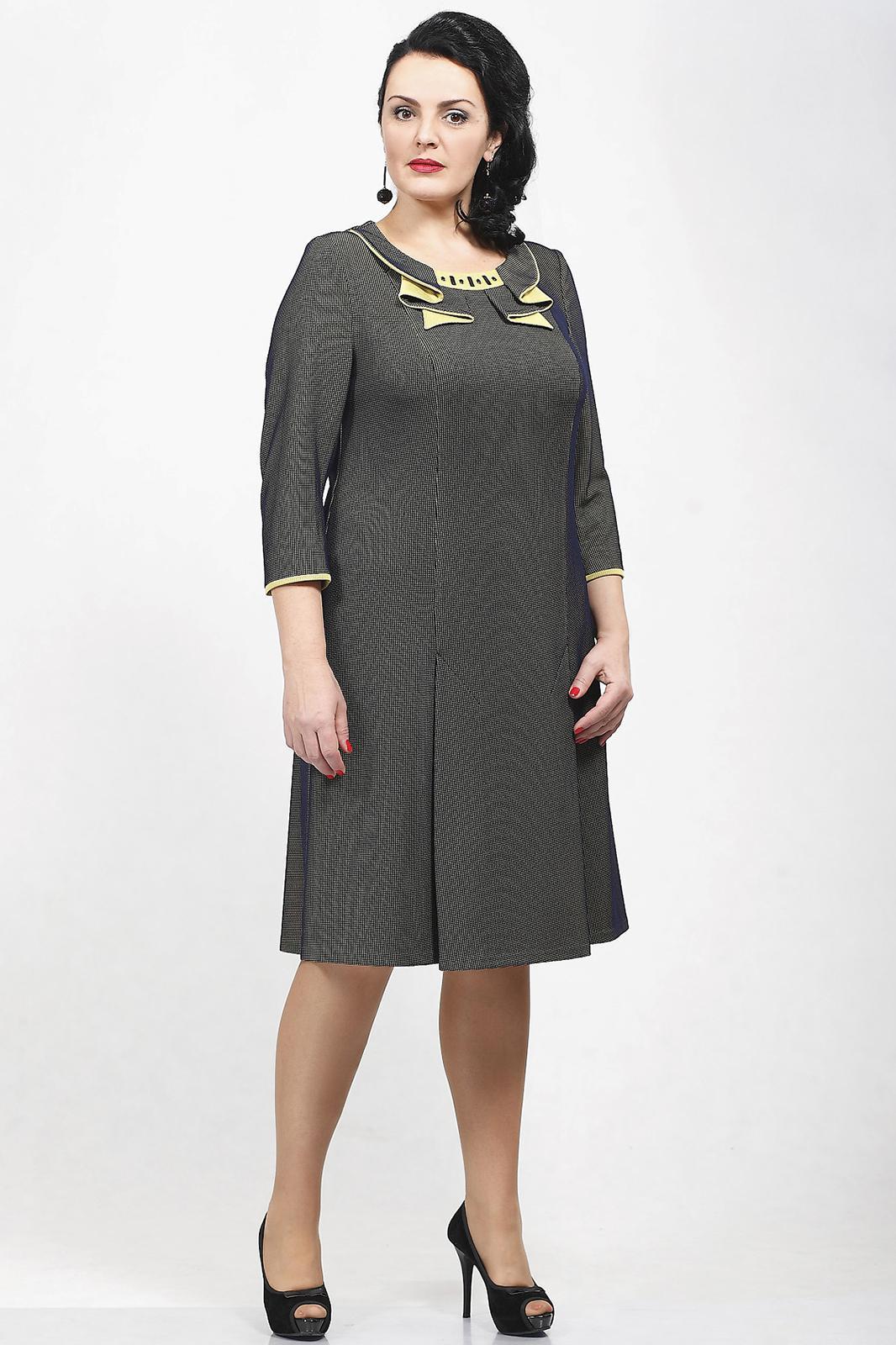 Купить Платье Madame Rita, 661 с жёлтым, Беларусь