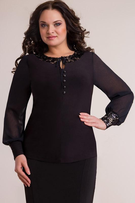 Купить Блузка Дали, 268 черный, Беларусь