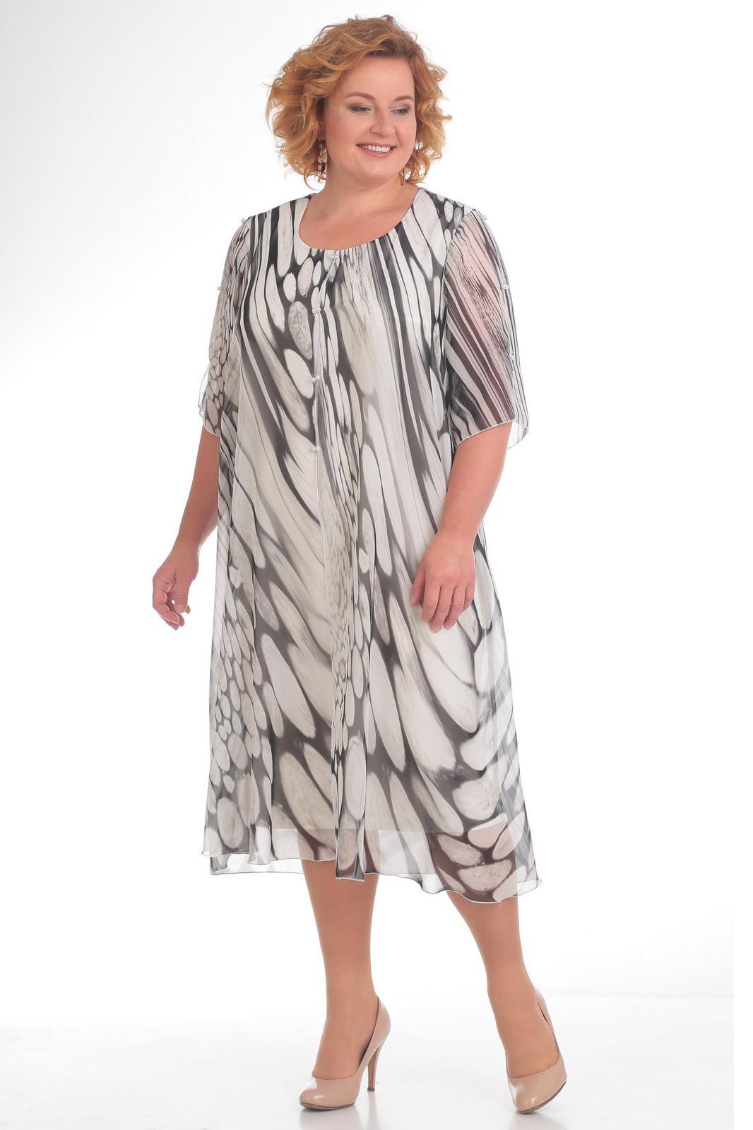 Купить Платье Pretty, 728 черно-белый, Беларусь