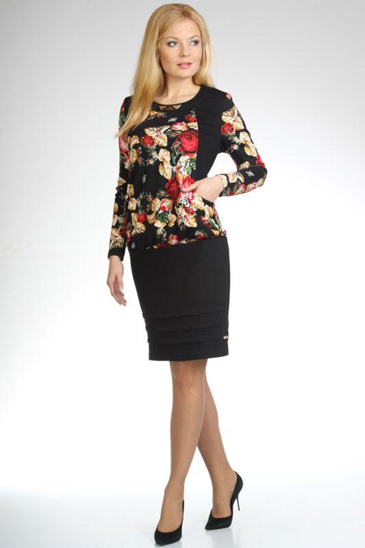 Купить Платье Дали, 1294 черный, Беларусь