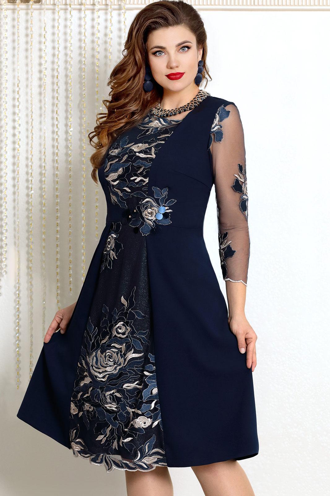 Купить Платье Vittoria Queen, 7593 тёмно-синий, Беларусь