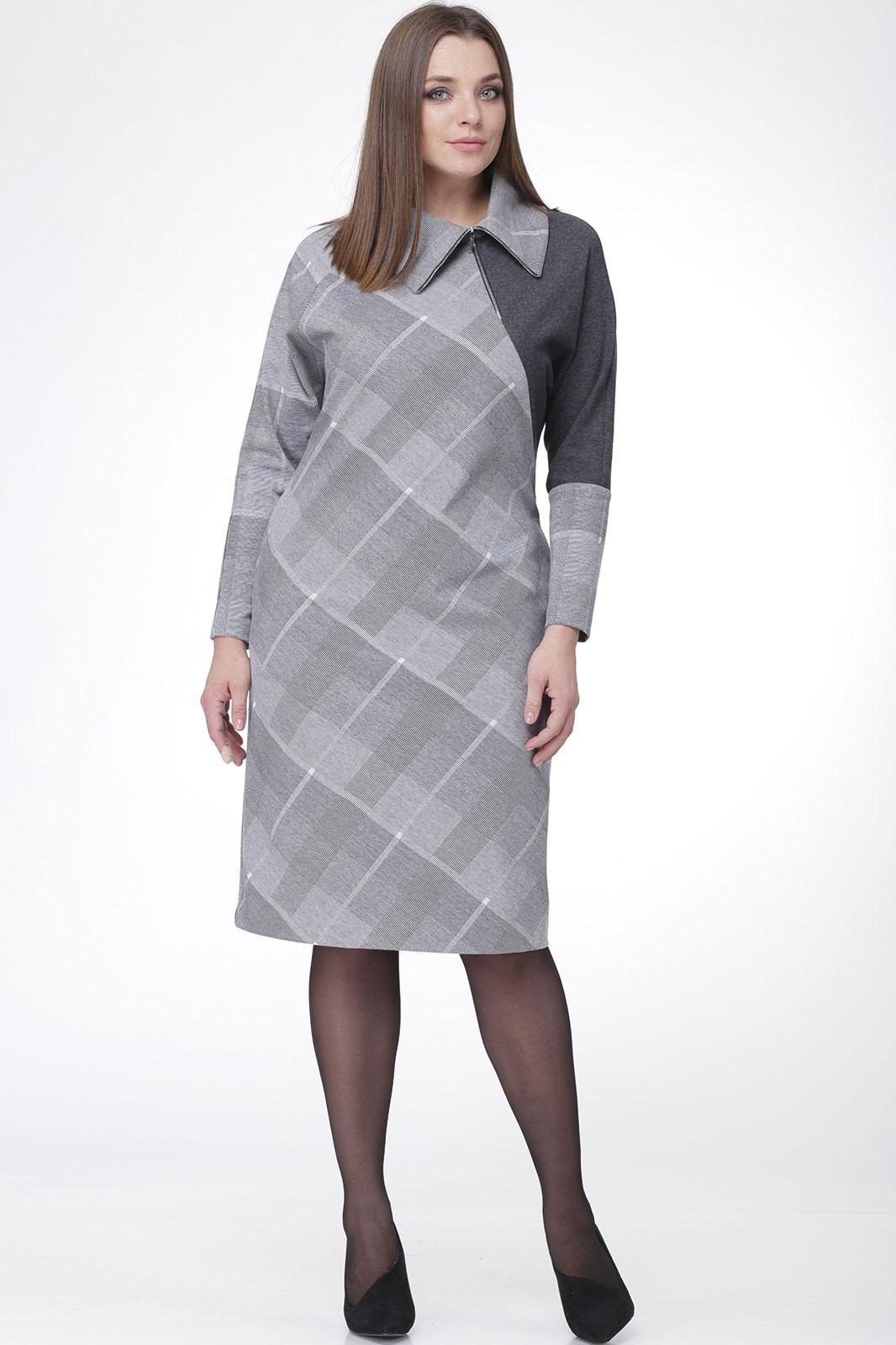 Купить Платье Mali, 455 серая клетка, Беларусь
