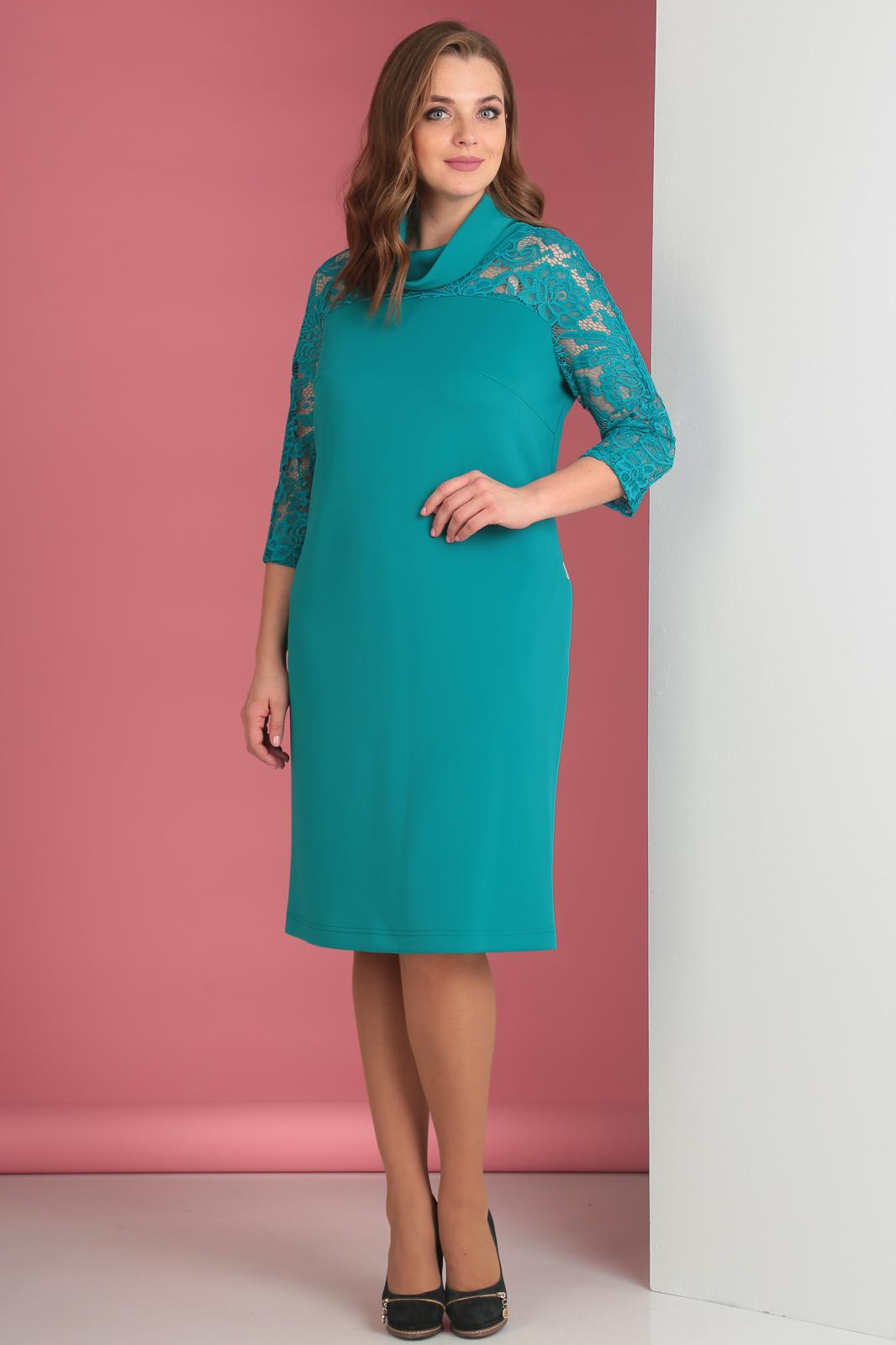 Купить Платье Anastasia Mak, 518 бирюзовый, Беларусь