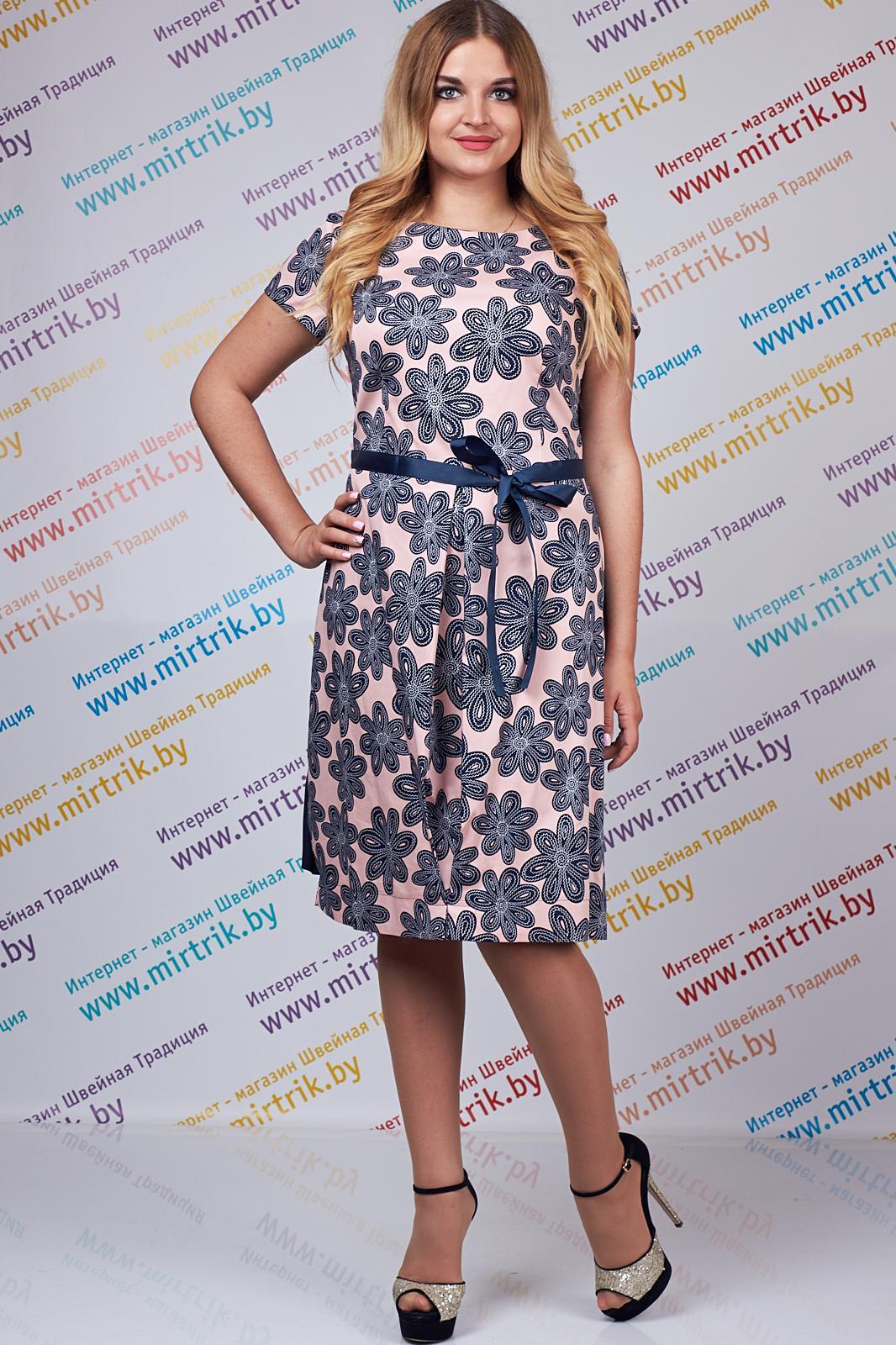 Купить Платье Svt-Fashion, 411 цветы+светло-розовый, Беларусь