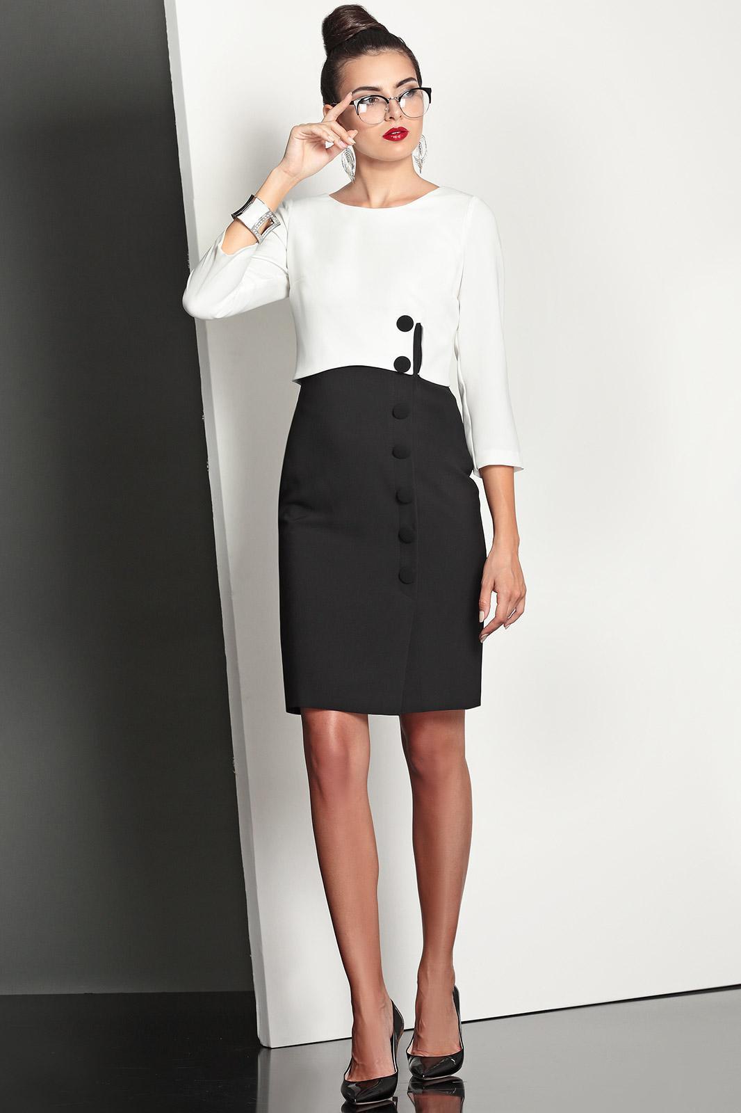 Платья черные с белым