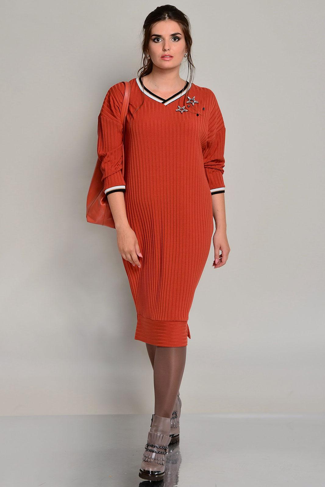 Купить Платье Faufilure, 667С терракотовый, Беларусь