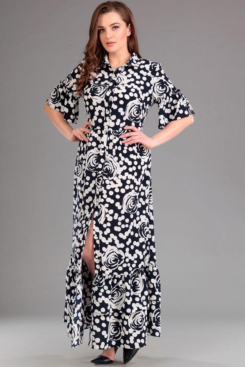Купить Платье Лиона-Стиль, 579 горохи+цветы, Беларусь