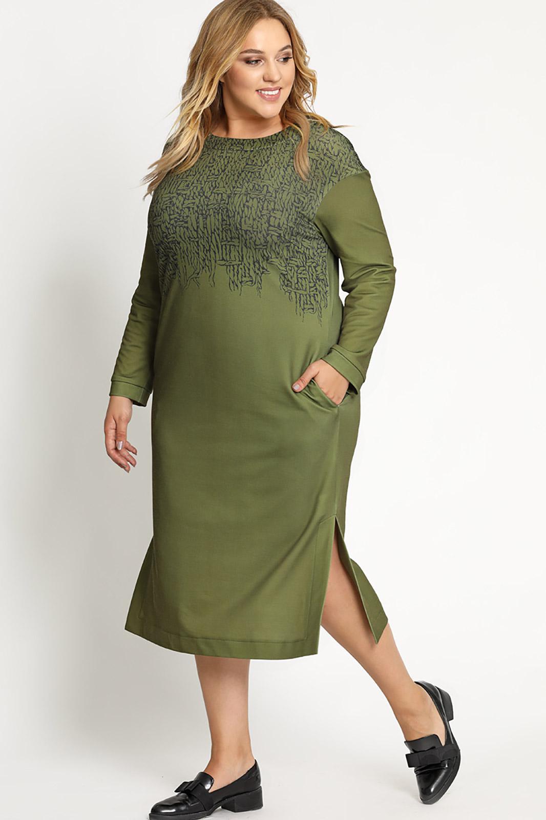 Купить Платье Artribbon-Lenta, 2794P1001 хаки, Беларусь