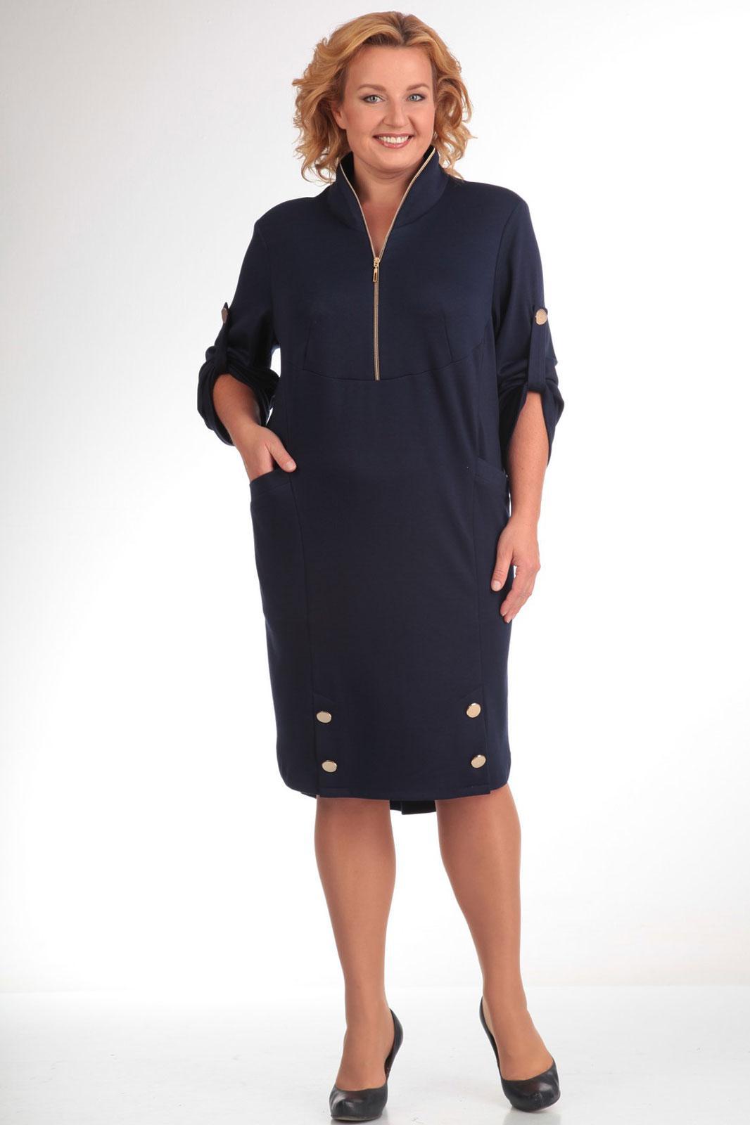 Купить Платье Pretty, 473 темно-синий, Беларусь