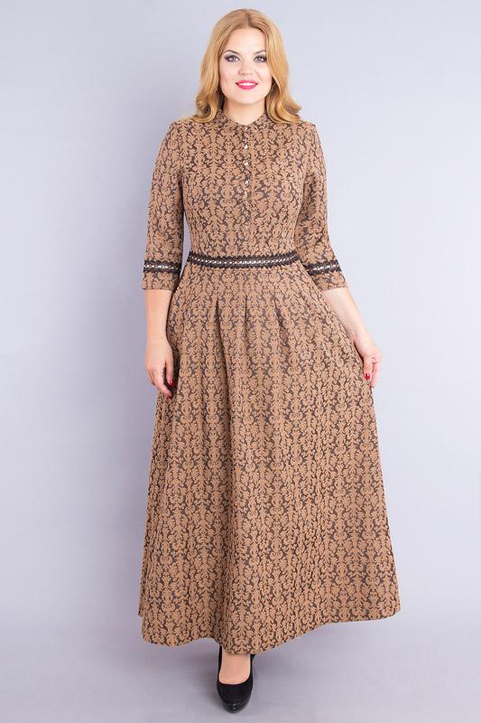 Купить Платье Дали, 530 коричневый, Беларусь