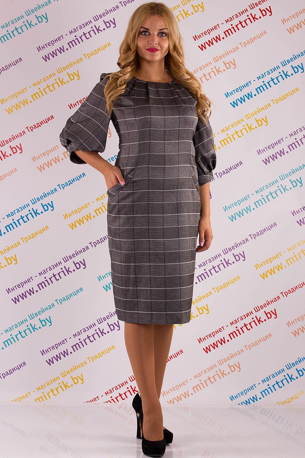 Купить Платье Svt-Fashion, 347 серая клетка, Беларусь