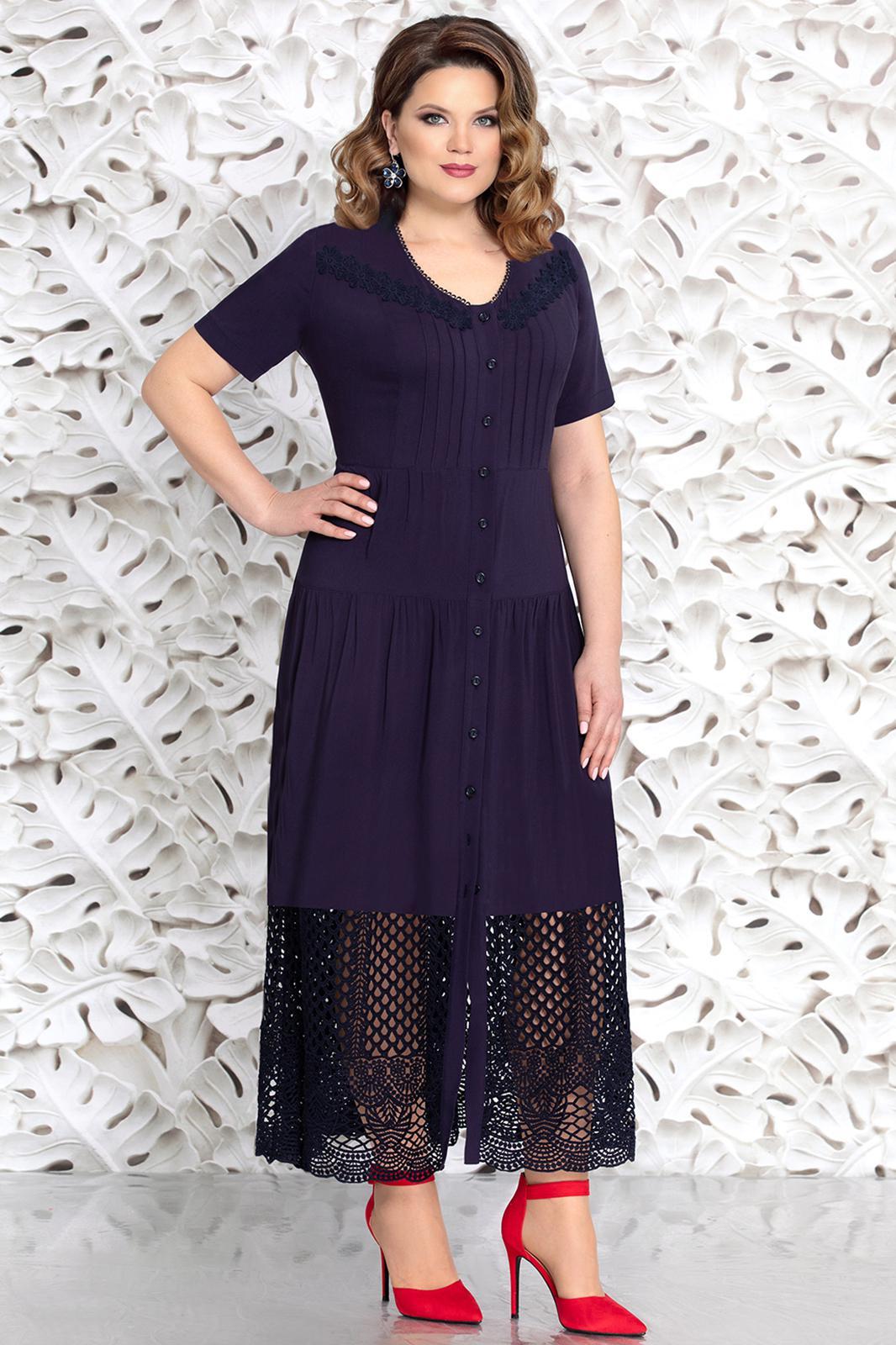 a1041fc3df2dda1 Платье Mira Fashion, синий (модель 4435-2) — Белорусский трикотаж в ...