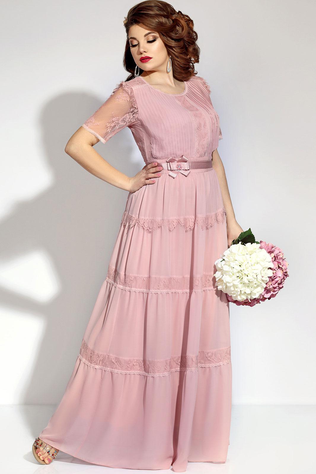 32c09d6549b7d93 Платье VITTORIA QUEEN, светло-розовый (модель 5493) — Белорусский ...