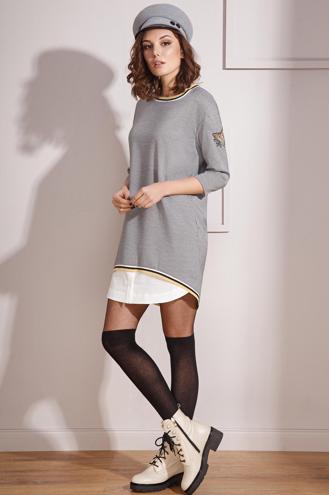 Платье Prestige, 3490 серый, Беларусь  - купить со скидкой